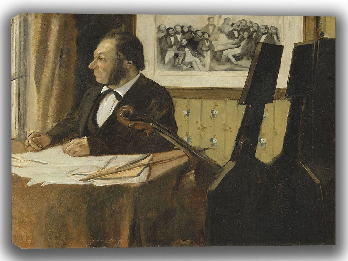 Degas, Edgar: The Cellist Pilet. Fine Art Canvas. Sizes: A4/A3/A2/A1 (003764)
